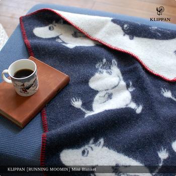こちらも、クリッパン社製のラムウールミニブランケット。やわらかなラムウールは、普通のウールより軽く温かいのも魅力のひとつです。