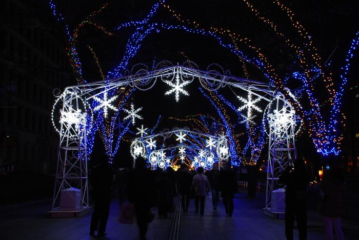 OSAKA光のルネサンスは、大阪市北区の土佐堀川と堂島川の間に浮かぶ中之島で開催されるイルミネーションです。