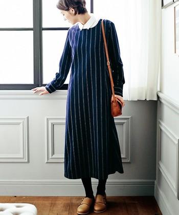 クラシカルで上品なワンピーススタイル、ナチュラルな風合いのワンピーススタイル…色々ありますね。1枚で着られるのでいつもよりコーデに悩まなくて良くて楽チンなのに、女性らしくきちんと見える。