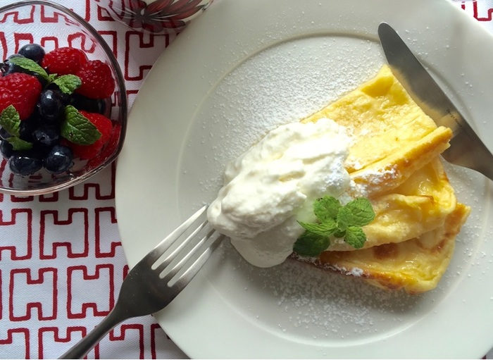 「Very Berryな朝ごはん」の会 ※予約終了 メニュー:ベリーとクリーム添えケーキ、ベリーサラダ、コーヒー