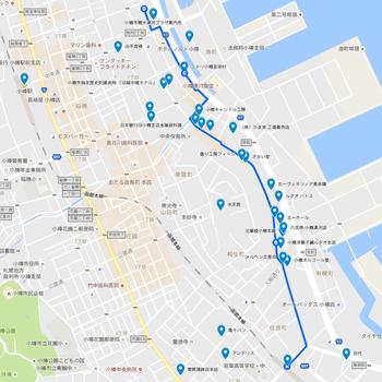 堺町通り沿いの部分地図。たくさんのお店や歴史的建造物があり、楽しみがいっぱいのエリアです。