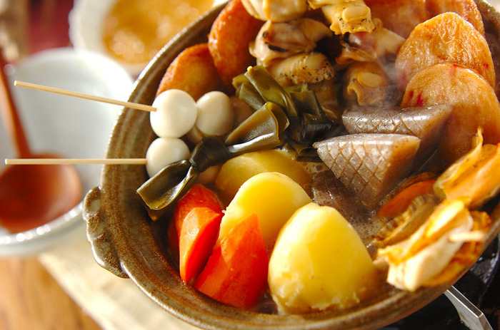 こちらはショウガとみその味付けのおでん。魚介も入っていてうまみもあり、ショウガで体もより暖かくなりそうですね。