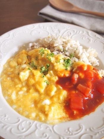 ふわとろの卵が美味しいオムライスは、男性も子どもも大好き。ルクエのオムレットで作る簡単レシピですが、なければフライパンでも手軽に作れます。