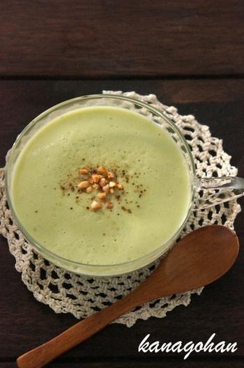 美容にいいと言われているアボカドを使ったスープ。冷製でも温製でもOKで、まな板なしで作れちゃう簡単レシピ!女子にオススメ♪