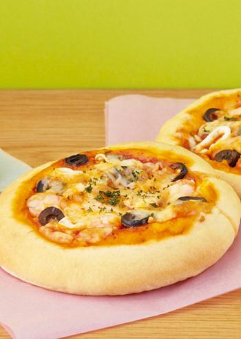 ピザとシーフードは相性抜群ですよね。パーティーや軽食におすすめ♪
