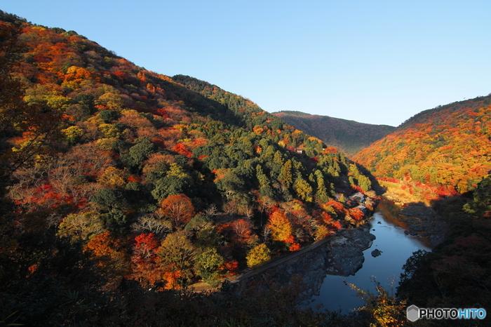 【嵐山亀山公園展望台からの眺め】