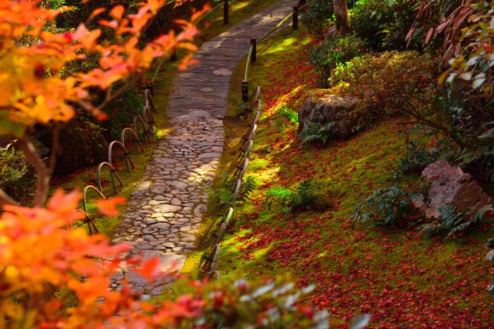 【「大河内山荘庭園」の秋の情景】