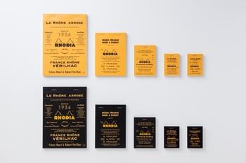 フランス生まれの定番メモ「ロディア」は、ちょうどいい色合いの方眼と、切り取りやすさがとても便利です。オレンジと黒の表紙は世界中で愛されています。「THE」とのコラボレーションで、よりおしゃれな表紙になりました。