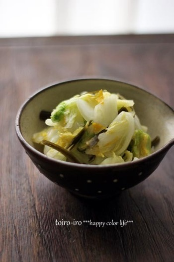 普段漬物に馴染が無い人にもおすすめなのが、短時間で漬けることができる浅漬け。15分で漬けることができるし、一食分でもOK。柚子の香りが爽やかでおいしいですよ。