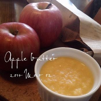 ここ最近人気のりんごバターも簡単に作れます。 フライパンで醤油などを加えてお肉のソースにするのもおススメです。