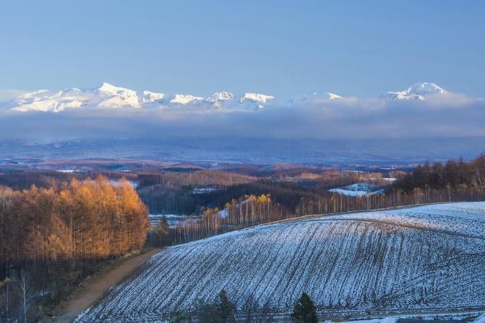 広大な大地に真っ白い雪景色が美しい北海道。冬の北海道もロマンチックで素敵な風景がいっぱいです。