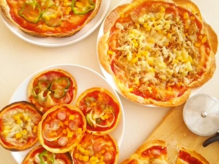 """フライパン・オーブン・トースター、それぞれ""""焼き方""""や""""焼き上がりの特徴""""がまとめられたレシピです。ポイントが細かくまとめてあるので、餃子の皮でピザを作りたい人は一度は読んでおく価値あり!より美味しく焼き上げることができますよ。"""