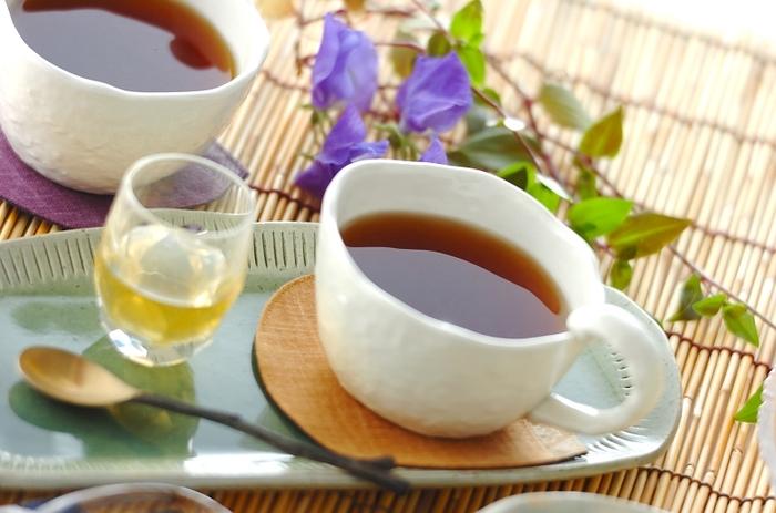 すりおろしショウガとハチミツの紅茶は、血行をよくするショウガで体の内側からぽかぽか温めましょう!