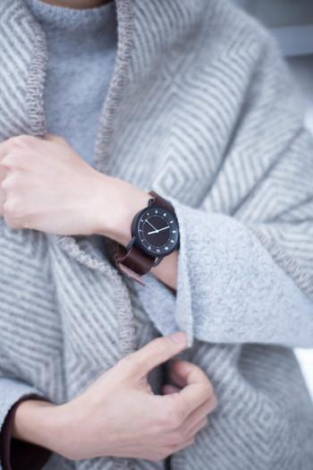 【TID No.1 Leather Wristband(革ベルト)文字盤:Black 36mm/ベルト:Tan】