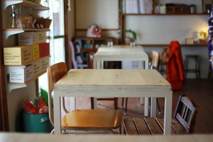 アパートの1室をリノベーションしてあり、ゆっくりと過ごせる空間に。