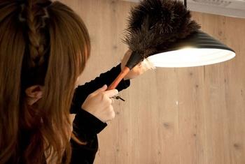 【用意するもの】 ・はたき ・やわらかい布 ・重曹水(水1Ⅼに対し重曹大匙1.またはお掃除用洗剤) ・柔らかい歯ブラシや刷毛  ※必ず電源を切り(電気がついていない状態で)お掃除をしましょう。