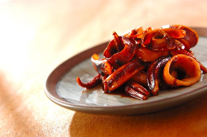圧力鍋を使えば、イカもあっという間に柔らかになります。生姜の効いた味がクセになりますよ。お弁当はもちろん、おつまみにもよさそうです♪