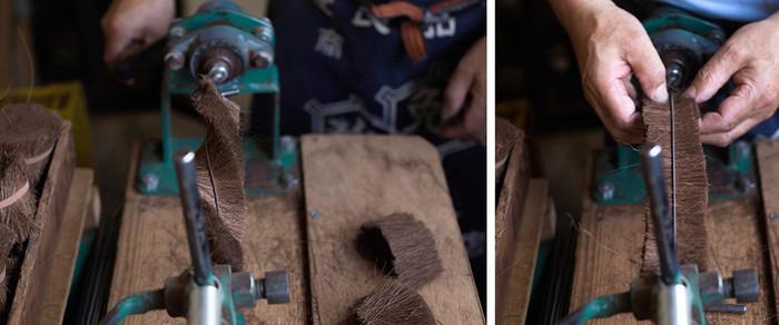 そんな中「北山正積商店」では、今も直、経験と技術に裏打ちされた「手仕事」にこだわり、高品質のたわしを作り続けているのです。