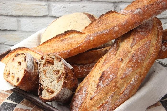 本場フランスの味を再現したというハード系のバゲットやクロワッサンは訪れたら必ずチェックしてくださいね。自家製酵母を使用した生地は毎日食べても飽きません。