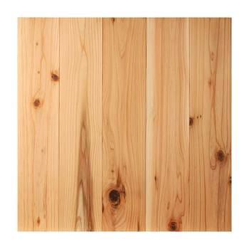 ユカハリ・タイルのラインナップは8種類。馴染みの深い「すぎ」は木材らしさが全面に出ていて、ナチュラルな雰囲気を目指すお部屋にはぴったりです。