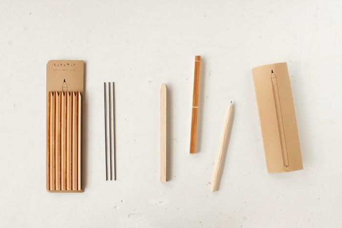 最近ではちょっと懐かしくなりつつある鉛筆。これをヒトテマ・キットで作ってみませんか? 芯を組み込んで作る作業から、削って尖らせるところまで、改めて体験してみましょう。新鮮さと懐かしさが同時に感じられるキットです。