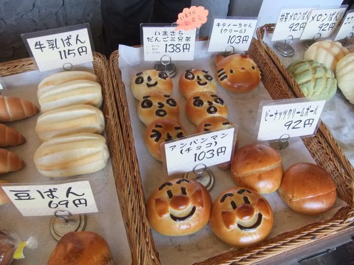 子どもが喜びそうなキャラクターのパンも!