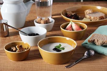 大小あるのでセットで使っても。果物を入れたり、サラダやスープをいれても良さそうです。