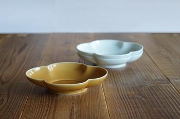 丸く高さの少しあるお皿は可愛らしい印象。楕円の形が料理を自然に美しく盛り付けさせてくれます。