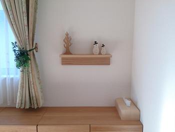 こちらが完成図。飾り棚として季節の小物を置くだけでも、ぐっとおしゃれな空間に早変わりです!