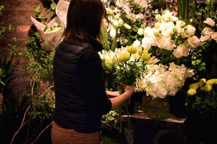 センス抜群のお花が駅から徒歩0分で買えるのは嬉しいですね。