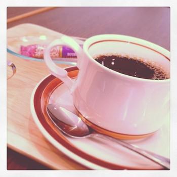 喫茶店らしく、もちろんコーヒーだってありますよ!コーヒー豆はオリジナルの宝石箱ブレンドを使っているそうです。