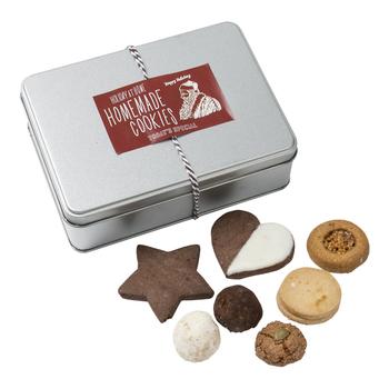 【クッキーホリデー缶】 ティータイムに、ほっこり優しい味のクッキーはいかが?12月のホリデーシーズンをイメージした缶の詰め合わせは、贈り物にも最適です。