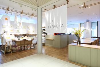"""「CLASKA Gallery & Shop """"DO""""」の飲食店、カフェ&キッチン「DO TABELKA(ドー タベルカ)」でもおいしい和食を食べることができます。"""