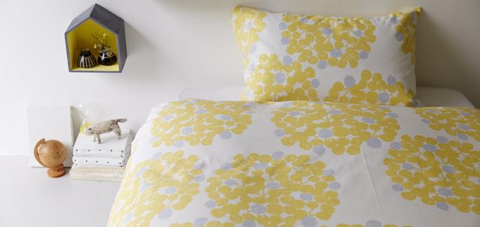 寝室の主役になるアイテムだから、お気に入りを見つけたいのがベットリネン。枕やベットカバーなど、好きな布で眠りにつくことができるのは小さな幸せですね。