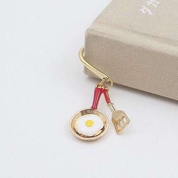 フライパンで焼いた目玉焼きとフライ返しのミニチュアセットが可愛いブックマークは、本を続きを早く読みたくなるデザイン。 お料理好きのお友達へのプレゼントとしてもおすすめです。