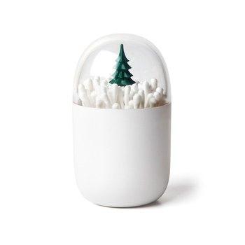 ワールドワイドに活用する台湾のデザインブランド、QUALY。小さなもみの木の収納ボックスは、めん棒を入れたら一面の雪景色に!ドレッサーや洗面所にストーリーのある景色を。