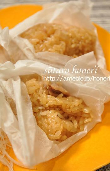 お正月用のもち米が少し余っているなら、冷凍大根を使った中華ちまきはいかがですか?フライパンで材料を炒めて、クッキングペーパーで包んで蒸せば、本格派のちまきができますよ。
