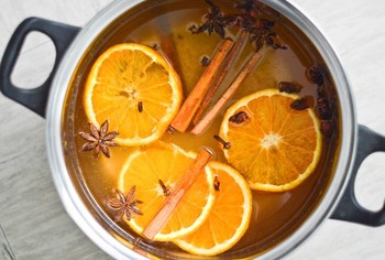 こちらは白ワインを使ったホットワイン。白ワインにオレンジジュースとシナモン、クローブ、八角などのスパイスを加え温めます。ワインが苦手な方でも飲みやすい、爽やかな味わいです。