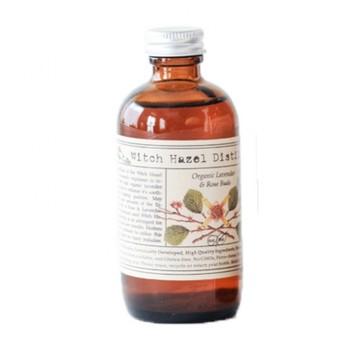 こちらはBROOKLYN HERBORIUM(ブルックリン・ハーボリウム)の、ウイッチヘーゼルのボディトナー。オーガニックラベンダーのつぼみとバラの花びらを使い、6週間以上かけて成分を浸出させたもので、手間ひまのかかったハンドメイドの製品です。
