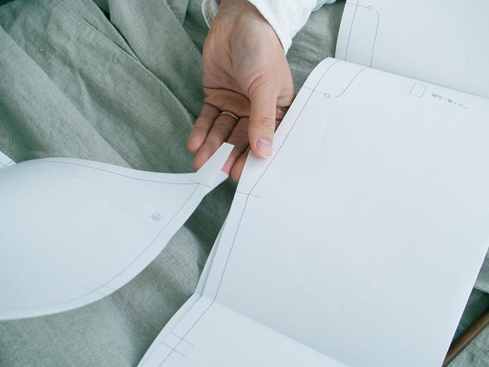 縫製についても細やかに仕様書に記載されているので、洋服を作ったことがある人であれば、カタチにすることができます。