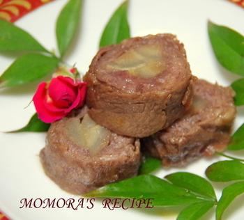 甘辛の味付けで、ご飯もすすむ八幡巻です。レンジを使って下ごしらえの時間を短くしたレシピです。 ごぼうもお肉も柔らかくて美味しいですよ♪