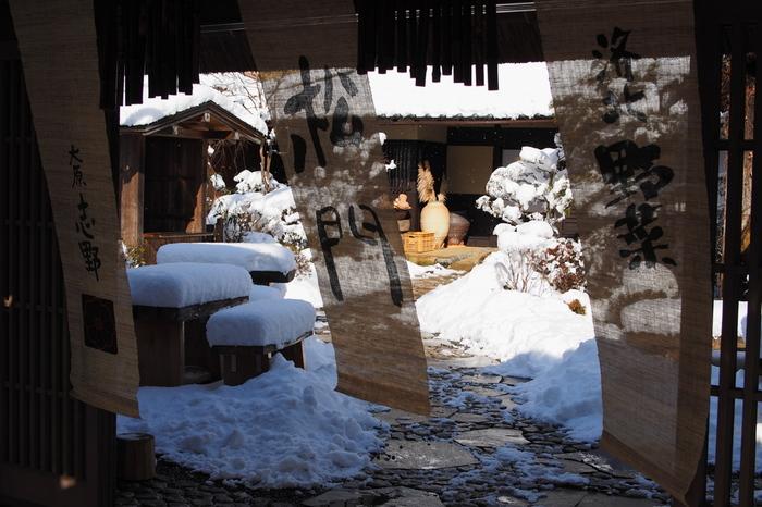 元郷土資料館だった古民家を改装した食事処「志野 松門」。