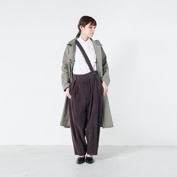 サージョンシャツ=軍医さんが着ているような素朴で優しい印象のアイテムのことです。メンズドレスシャツの規格をベースにしているため、ミニマルで上品に仕立てあげられています。