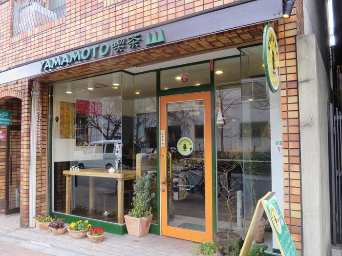 やまもと喫茶は京都の中でもお寺が多い東山区にあります。 法然上人の寺としても名高い知恩院のすぐそばにある喫茶店はまさに隠れた名店!