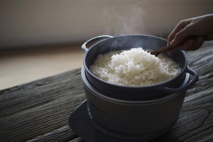 お米が立っているふんわり美味しいごはんは一番のごちそうです。