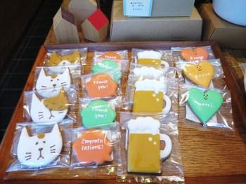 その他に、くまやねこ、ケーキやビールの形のクッキーもあるんですよ。 季節のイベント時に限定発売される独創的なクッキーも必見です★