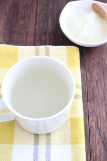 大根おろしをそのまま入れても、絞り汁でもOK。しょうがと昆布茶をアクセントに。