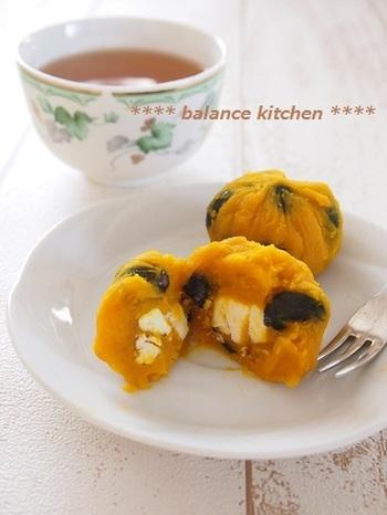 洋風おせちにもおすすめ。かぼちゃとクリームチーズでほっこりきんとんに。お砂糖が入らず、とってもヘルシーです。