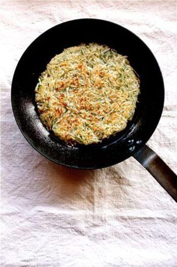 外はカリッと、中はホクホク♪塩胡椒だけでもシンプルにおいしく、お好みでチーズなどを加えてアレンジしてもOKです。
