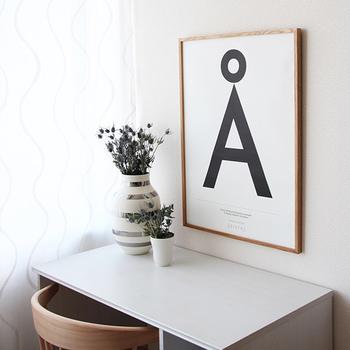 こちらはKortkartellet(コートカルテレット)のポスターです。Kortkartellet(コートカルテレット)は、地図や文字をモチーフにした遊び心のあるデザインで有名なポスターメーカーです。左右対称のイラストは落ち着きがあります。